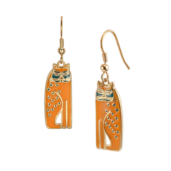 Siamese Cats Earrings Mustard Jewelry Laurel Burch Jewelry - Laurel Burch Studios