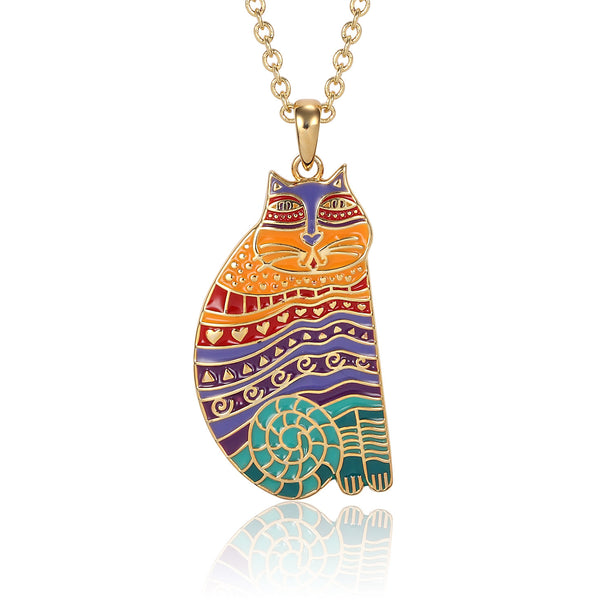 Rainbow Cat Necklace Jewelry Laurel Burch Jewelry - Laurel Burch Studios