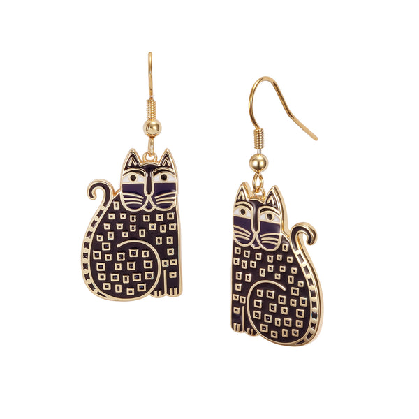 Indigo Cat Earrings Jewelry Laurel Burch Jewelry - Laurel Burch Studios