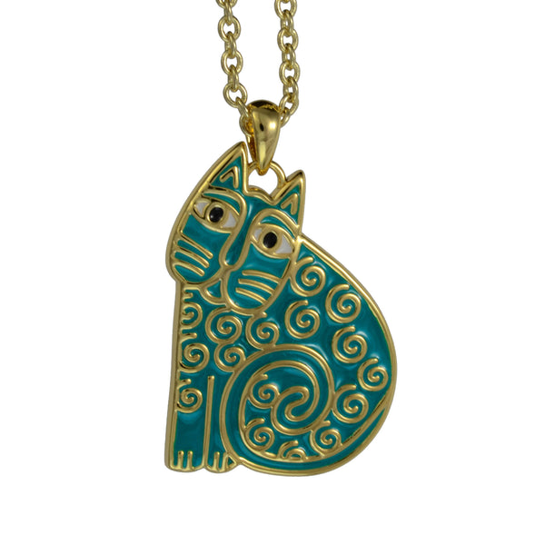 Jubilee Cat Necklace Teal Jewelry Laurel Burch Jewelry - Laurel Burch Studios