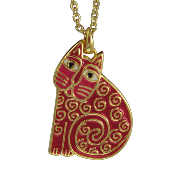 Jubilee Cat Necklace Pink Jewelry Laurel Burch Jewelry - Laurel Burch Studios