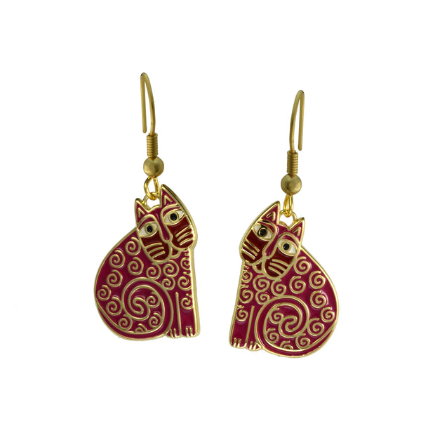 Jubilee Cat Earrings Pink Jewelry Laurel Burch Jewelry - Laurel Burch Studios