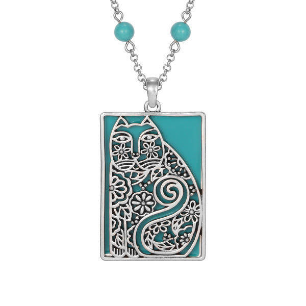 Elijah's Garden Necklace Turquoise Jewelry Laurel Burch Jewelry - Laurel Burch Studios