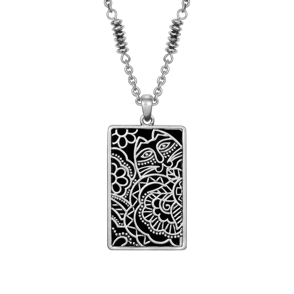 Carlotta's Garden Necklace Black Jewelry Laurel Burch Jewelry - Laurel Burch Studios