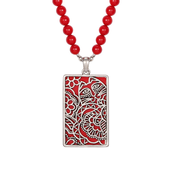 Carlotta's Garden Necklace Red Jewelry Laurel Burch Jewelry - Laurel Burch Studios