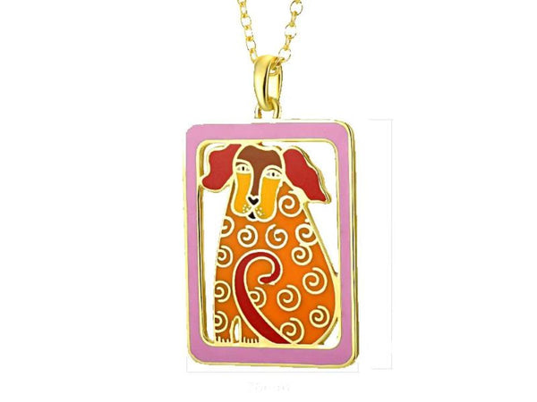Dog Tales Necklace Red Jewelry Laurel Burch Jewelry - Laurel Burch Studios