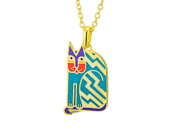Aztec Cat Necklace Teal Jewelry Laurel Burch Jewelry - Laurel Burch Studios
