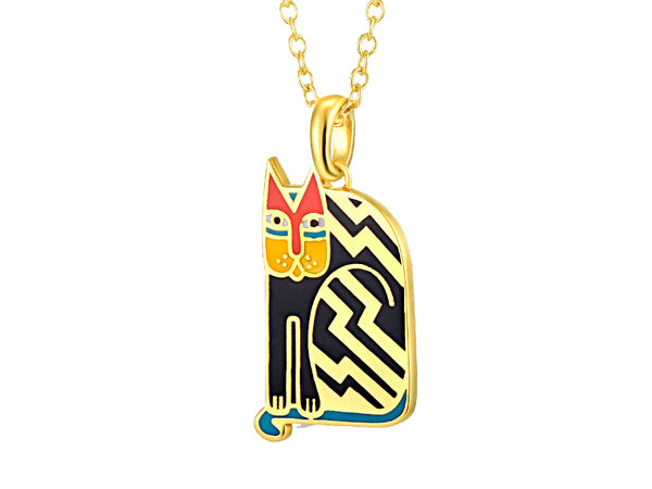 Aztec Cat Necklace Black Jewelry Laurel Burch Jewelry - Laurel Burch Studios