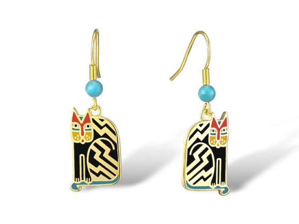 Aztec Cat Earrings Black Jewelry Laurel Burch Jewelry - Laurel Burch Studios