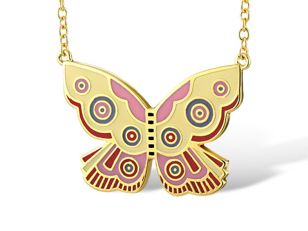 Yellow Summer Butterfly Necklace Jewelry Laurel Burch Jewelry - Laurel Burch Studios