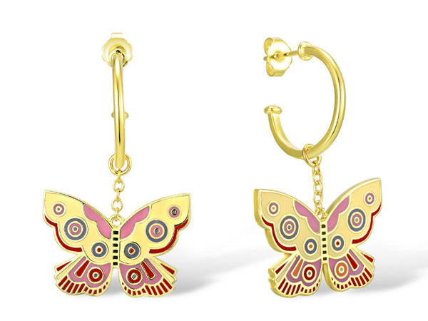 Yellow Summer Butterfly Drop Earrings Jewelry Laurel Burch Jewelry - Laurel Burch Studios