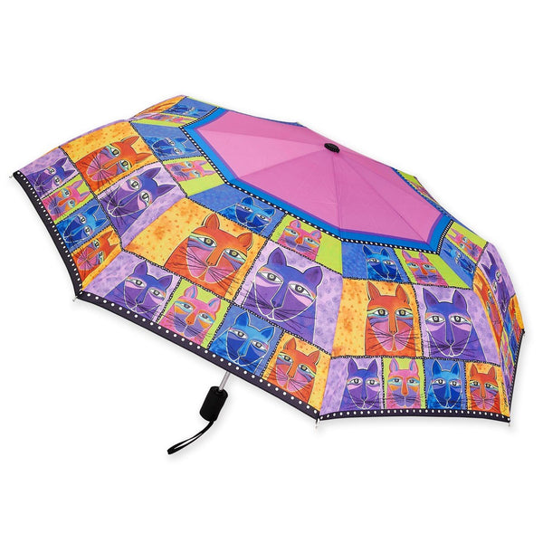 Whiskered Cat Umbrella Umbrellas Sun'N'Sand - Laurel Burch Studios