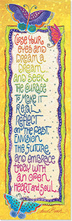 Bookmark: Close your eyes and dream a dream  Leanin' Tree - Laurel Burch Studios