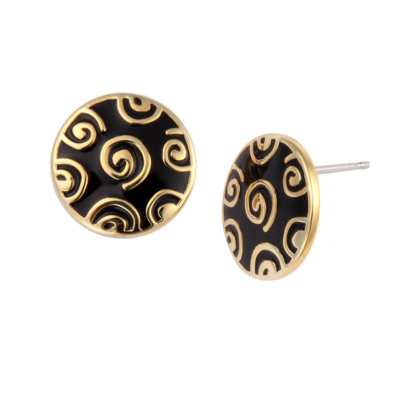 Jubilee Stud Earrings Black Jewelry Laurel Burch Jewelry - Laurel Burch Studios