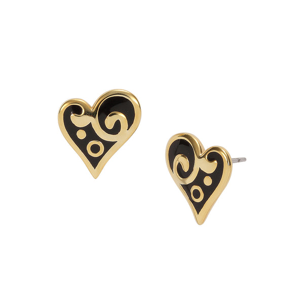 Harmony Heart Stud Black Jewelry Laurel Burch Jewelry - Laurel Burch Studios
