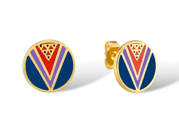 Wu Yi Stud Earrings Jewelry Laurel Burch Jewelry - Laurel Burch Studios