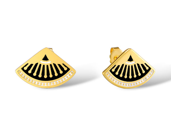 Fanfare Stud Earrings Jewelry Laurel Burch Jewelry - Laurel Burch Studios