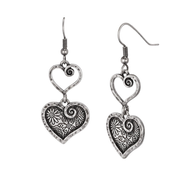 Blooming Heart Earrings Jewelry Laurel Burch Jewelry - Laurel Burch Studios