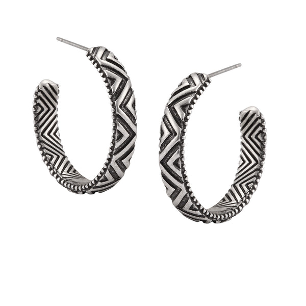 Tibetan Hoop Earrings