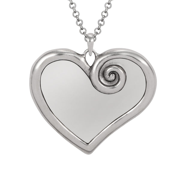 Yin Heart Necklace Silver Jewelry Laurel Burch Jewelry - Laurel Burch Studios