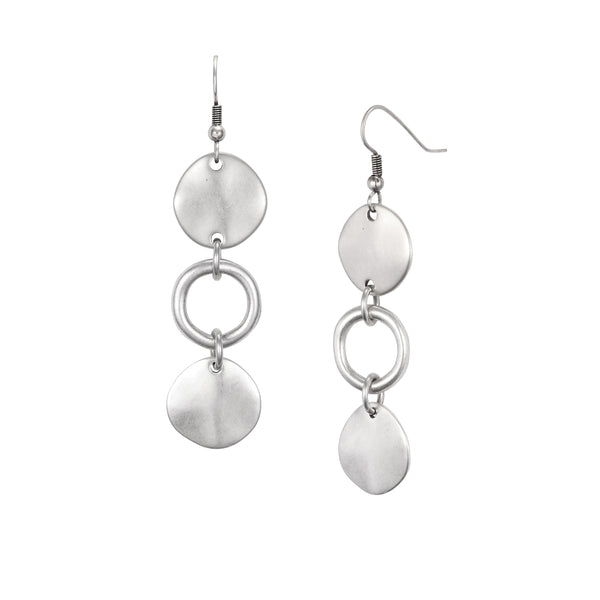 Cole Drop Earrings - Silver