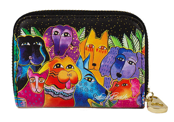 Dogs Zippered Wallet