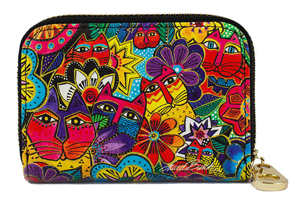 Laurel's Garden Zippered Wallet