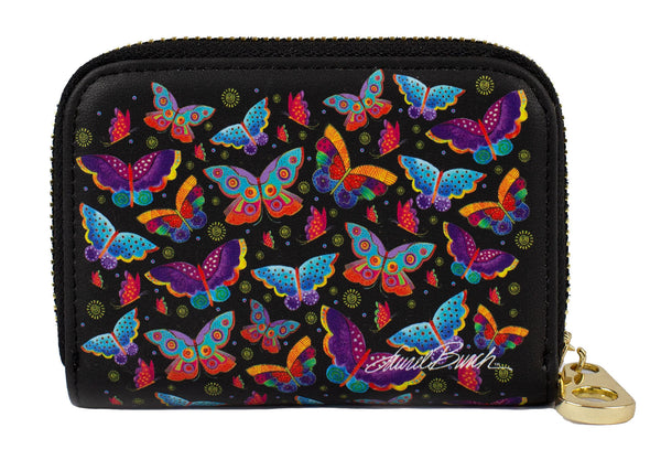 Butterflies Zippered Wallet