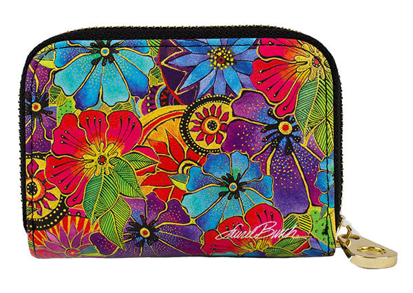 Blossoming Florals Zippered Wallet
