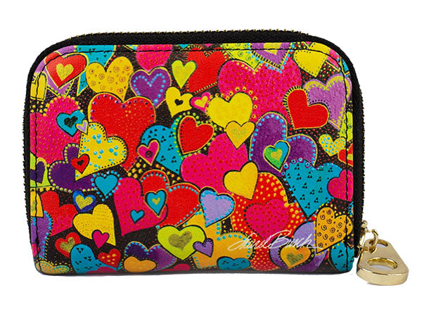 Dancing Hearts Zippered Wallet