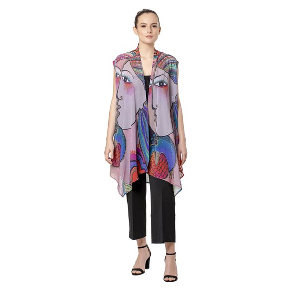 Mikalya Sheer Long Vest