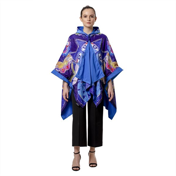 Indigo Cats Reversible RainCape