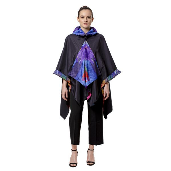 Wild Horses of Fire Reversible RainCape