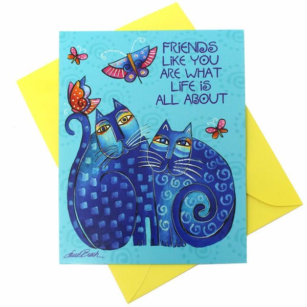 Friendship Card: Cats and Butterflies