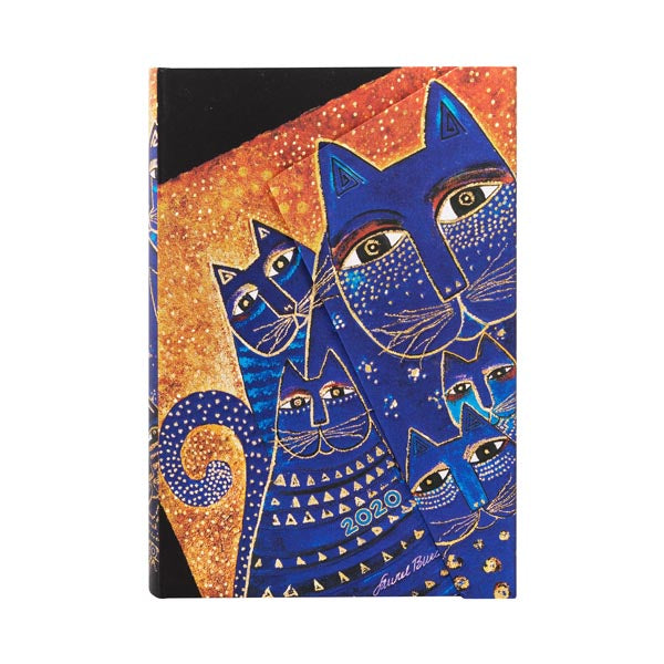 2020 Mediterranean Cats Mini Week- AT- A - TIME -12 Month Day Planner