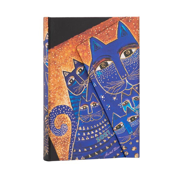 Lined Mini Journal - Mediterranean Cats