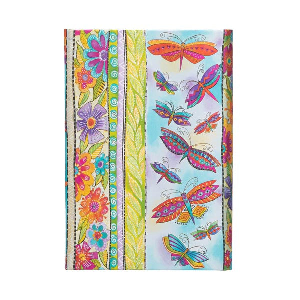 Lined Mini Journal - Hummingbirds & Flutterbyes
