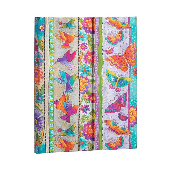 Lined Midi Journal - Hummingbirds & Flutterbyes