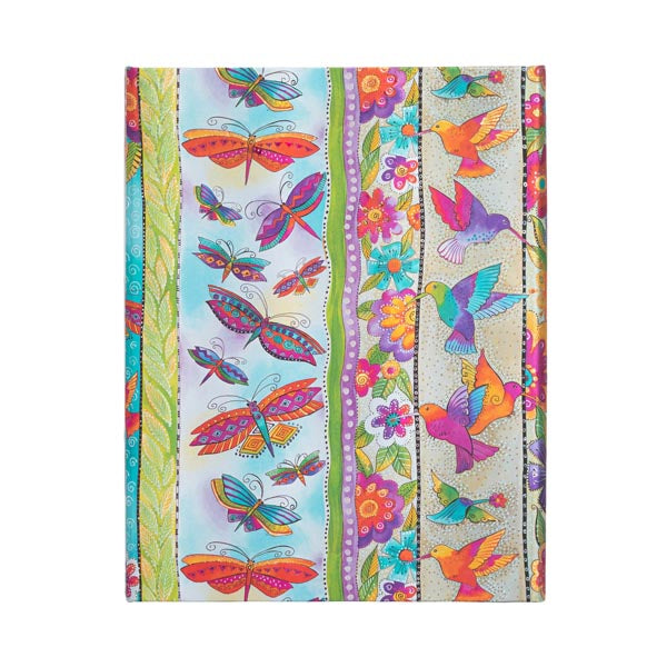 Unlined Midi Journal - Hummingbirds & Flutterbyes