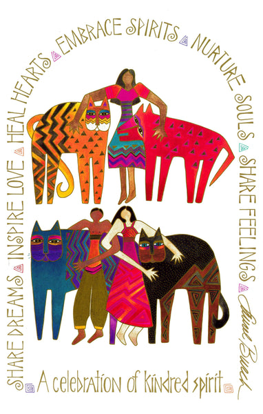 A Celebration of Kindred Spirit Print Prints Laurel Burch Studios - Laurel Burch Studios