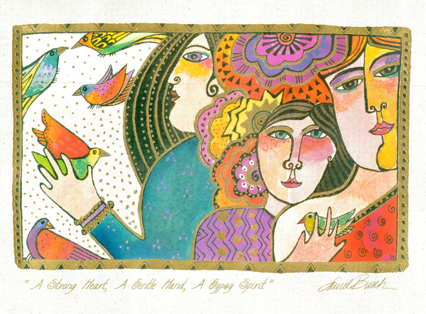 A Strong Heart, A Gentle Hand, A Gypsy Spirit Print Prints Laurel Burch Studios - Laurel Burch Studios