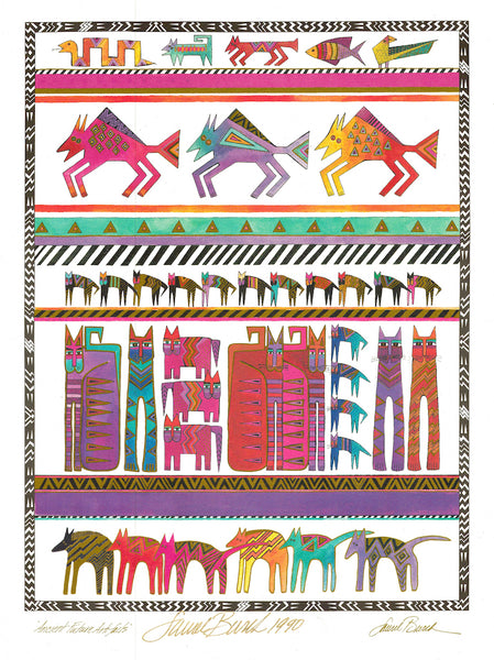 Ancient Future Artifact Print Prints Laurel Burch Studios - Laurel Burch Studios