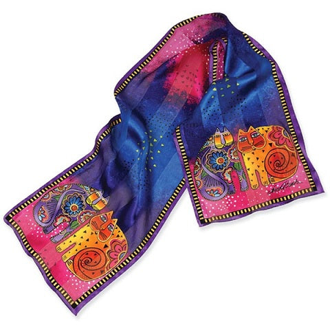 Kindred Felines Silk Scarf Scarves Sun'N'Sand - Laurel Burch Studios