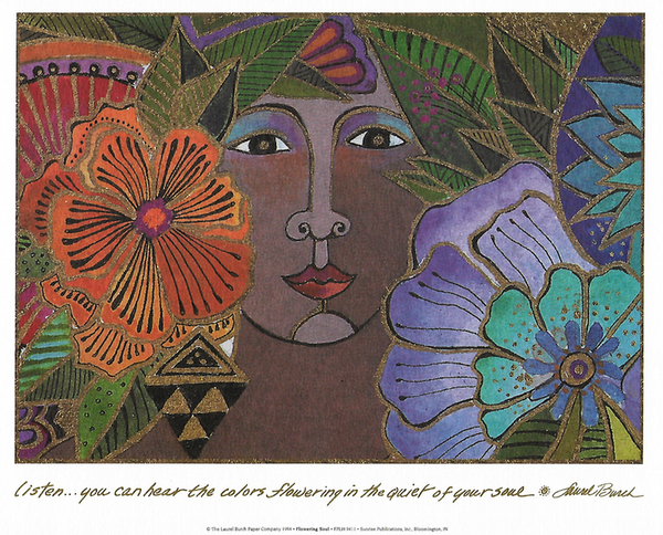 Flowering Soul Print Prints Laurel Burch Studios - Laurel Burch Studios