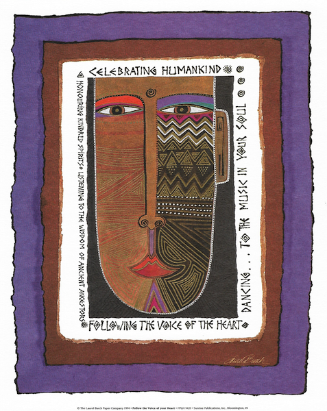 Follow the Voice in Your Heart Print Prints Laurel Burch Studios - Laurel Burch Studios