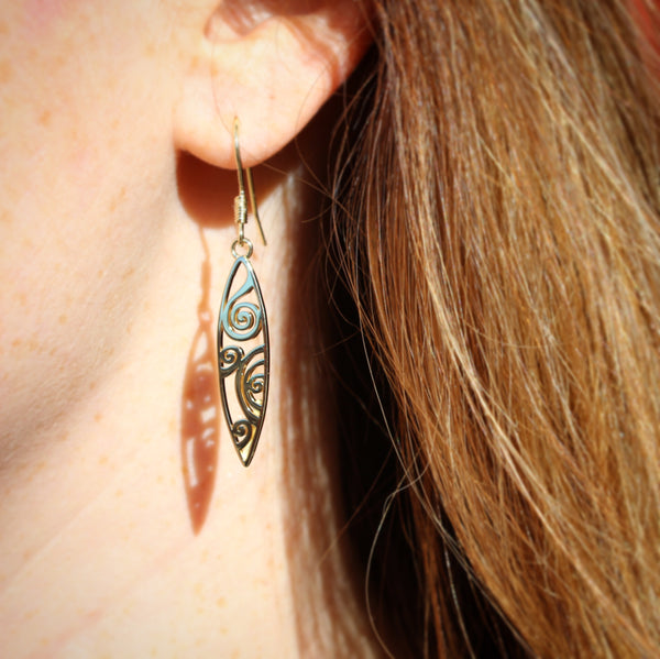 Waves Earrings Gold Jewelry Laurel Burch Jewelry - Laurel Burch Studios