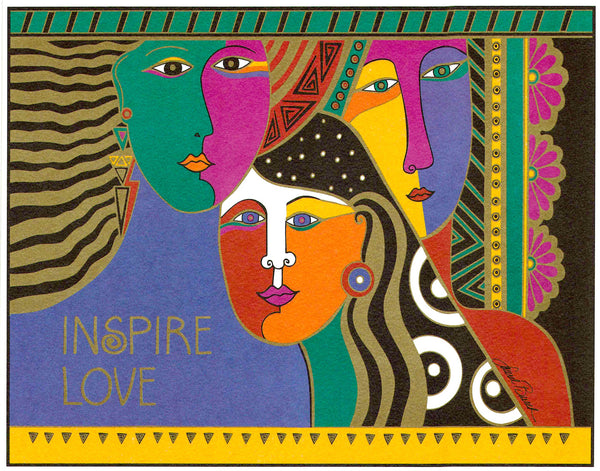 Inspire Love Print Prints Laurel Burch Studios - Laurel Burch Studios