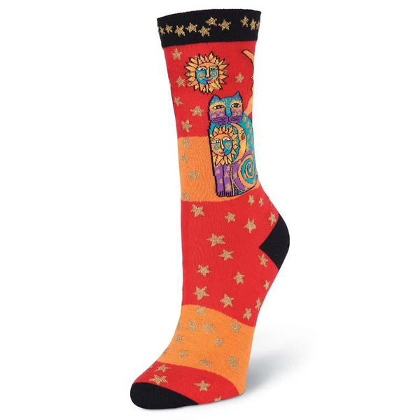 Women's Celestial Cat Crew Socks