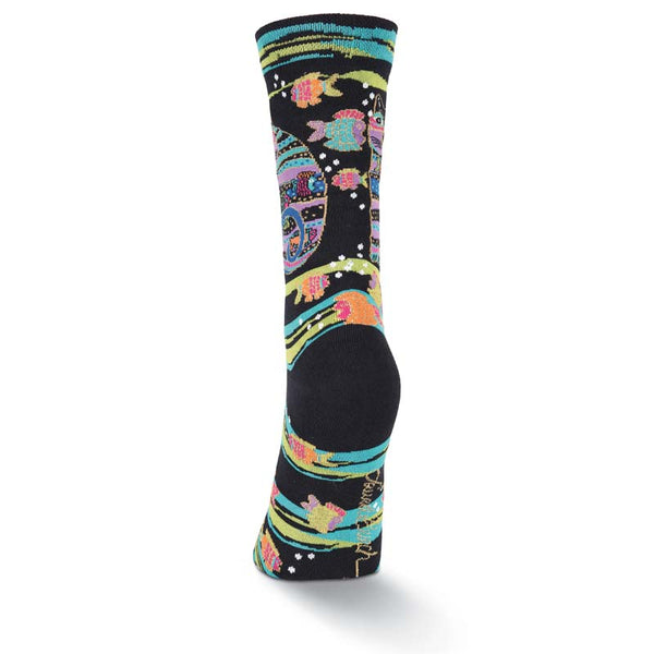 Women's Cat Fish Crew Socks