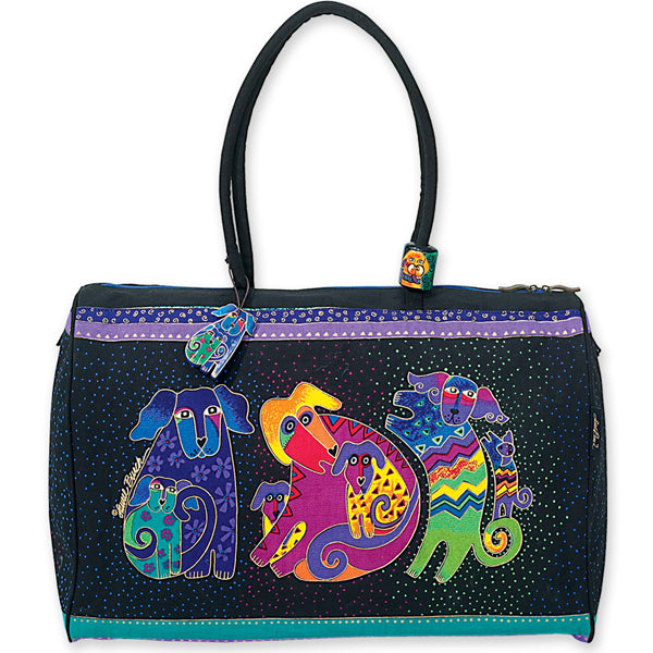 Dogs and Doggies Travel Bag Bags Sun'N'Sand - Laurel Burch Studios